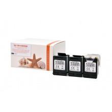 3er Set kompatible Druckerpatrone zu HP 302XL / F6U68A, black, Ecosaver